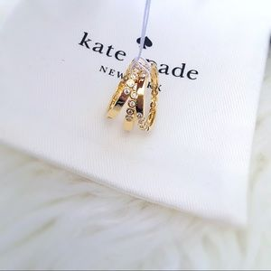 ♠️ Kate Spade Gold Stackable 3 Ring Set